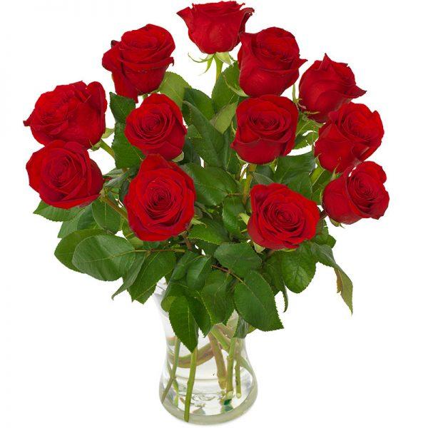 """""""Du er alt jeg trenger"""" - rød rosebukett i stor størrelse fra nettblomst.no"""