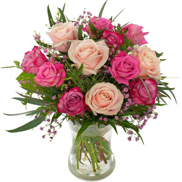 """""""Fordi du er du"""" - rose rosebukett fra nettblomst.no"""