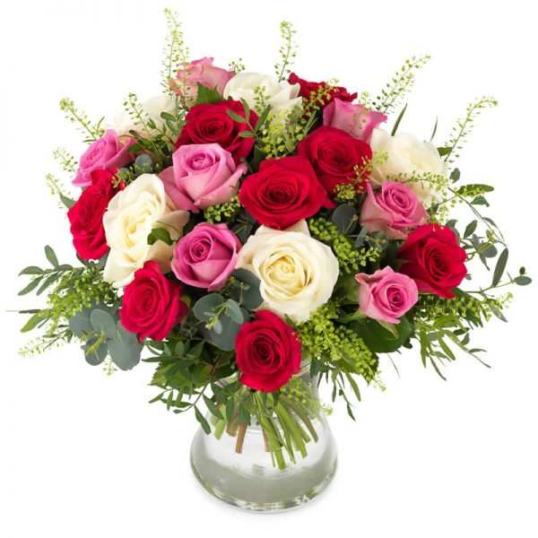 """""""Når kjærligheten snakker"""" rosebukett fra nettblomst.no"""