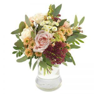 """""""Snill""""-blomsterbukett - roser og andre blomster fra nettblomst.no"""