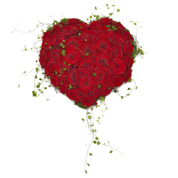 """""""Evig kjærlighet"""" båredekorasjon fra nettblomst.no"""
